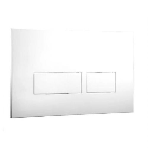 Abacus Easi-Plan Trend 2 Dual Flush Plate - White